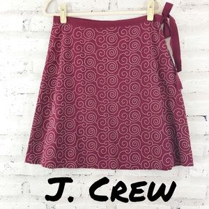 J. Crew Embroidered Side Tie Skirt